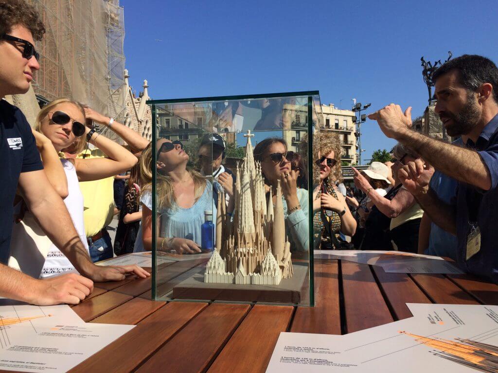 Students at the Sagrada Familia