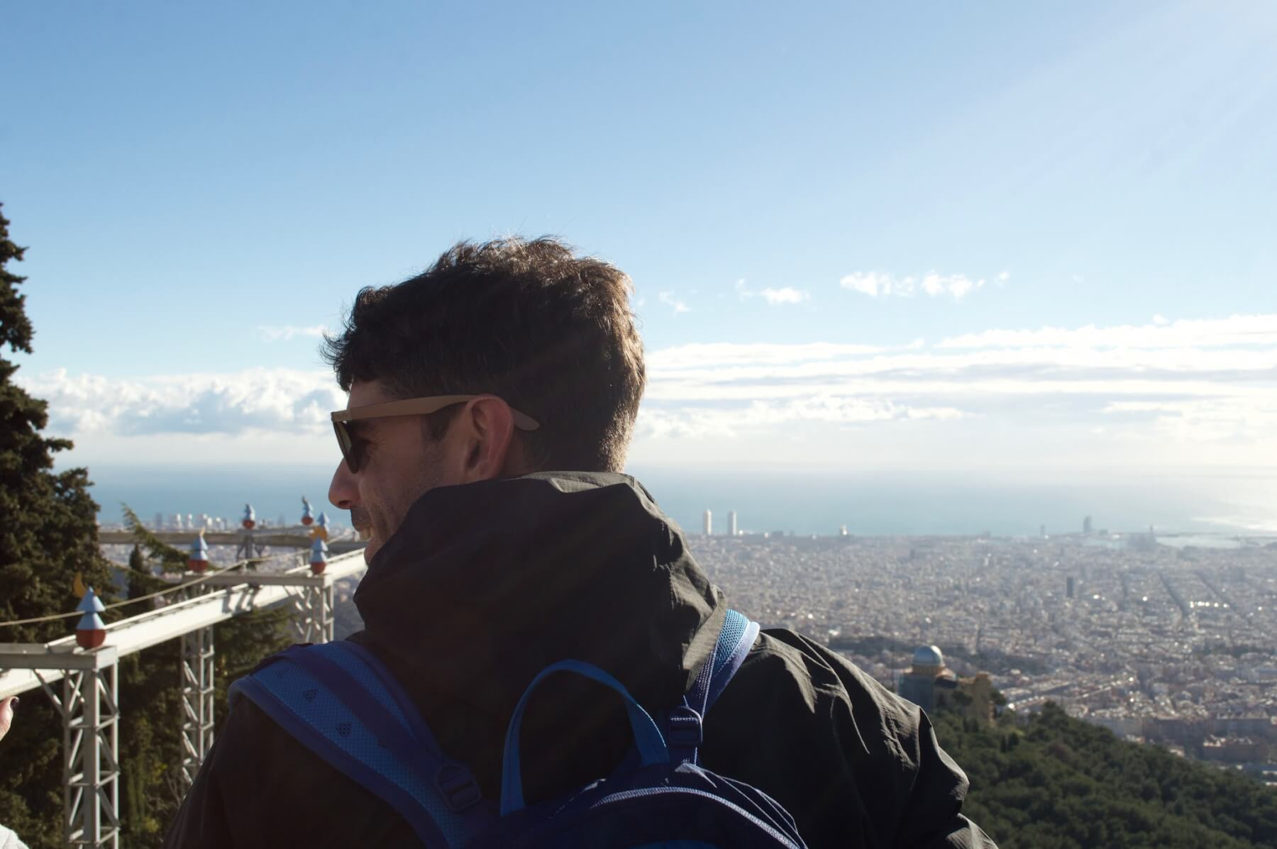 Our guide Filippo overlooking Barcelona