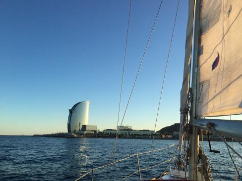 Gretchen sailing