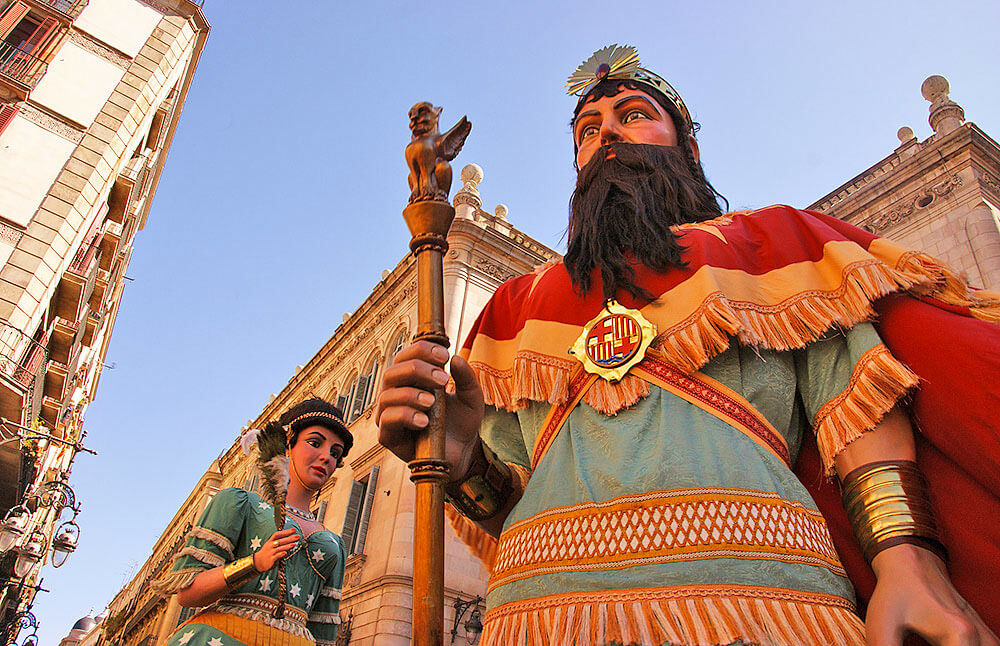 Festivity of Barcelona giants