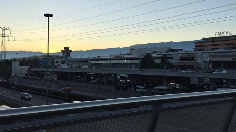View over highway to Geneva Airport