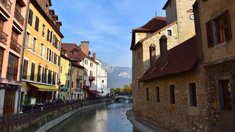 view over river in Annecy Town