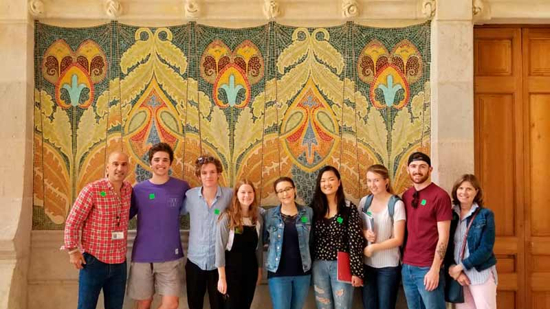 ALBA Art & Architecture class at Sant Pau Hospital
